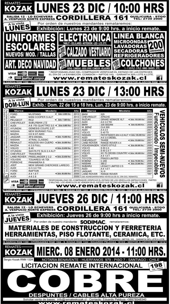 21.12.2013 LT Sábado (136)  PARCHE : Provincia : 133 : 133 AVIS