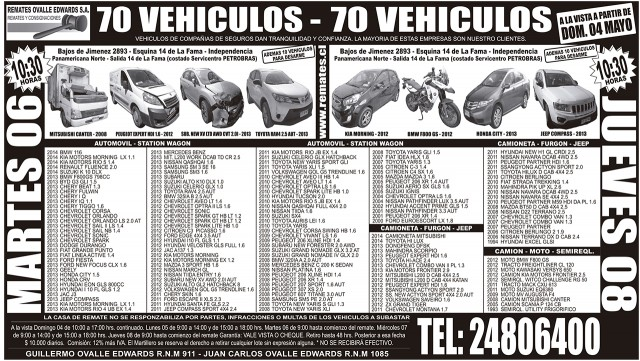 03.05.2014 LT Sabado (112) : Provincia : 109 : 109 AVISO