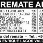 Remates Semana del Lunes 23 de Abril al Domingo 29 de Abril del 2018