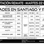 REMATES DE SEMANA DEL 14 DE OCTUBRE AL VIERNES 18 DE SEPTIEMBRE 2019