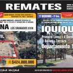 REMATES DE SEMANA DEL 02 DE DICIEMBRE AL VIERNES 09 DE DICIEMBRE 2019